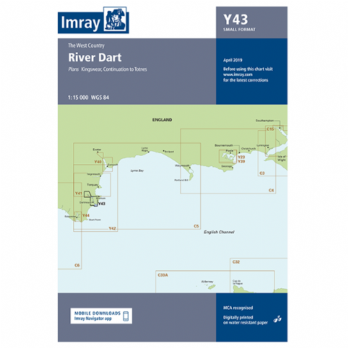 Imray Y43 River Dart (A2 Small Format)